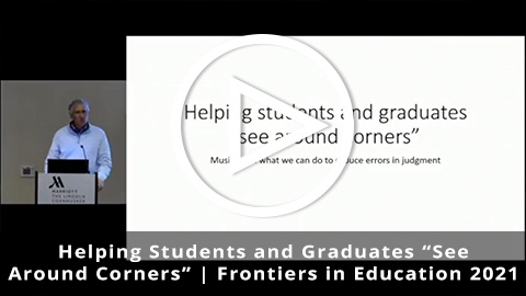 """Helping Students and Graduates """"See Around Corners"""""""